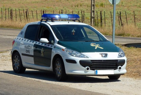 Coche de la Guardia Civil. Foto  Noticias Cartagena.