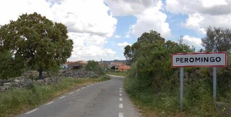 Carretera de Peromingo. Foto Peromingo.