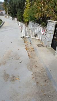 Canalización de abastecimiento de agua en San Esteban. Foto Ayto. San Estaban.