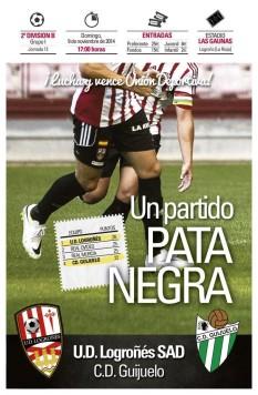 Cartel promocional del partido del domingo en Las Gaunas