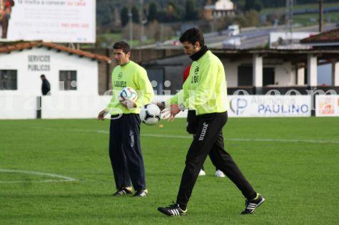 Funes e Ivo en el campo Las Callejas.