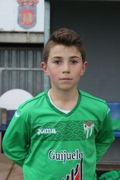 El jugador del C.D. Guijuelo Alevín A, Ricardo Carnicer.