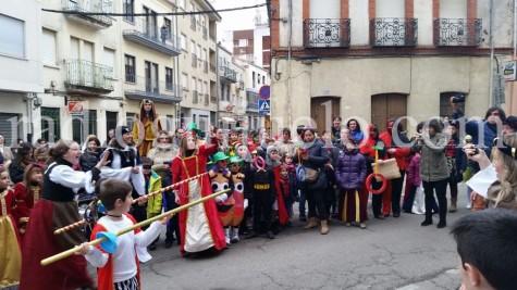 Acto del desfile medieval del Lunes de Carnaval.