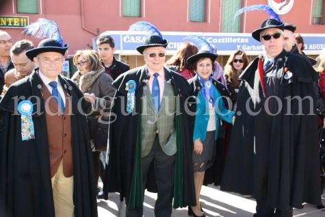 Algunos miembros de la Cofradía Gastronómica de Guijuelo.