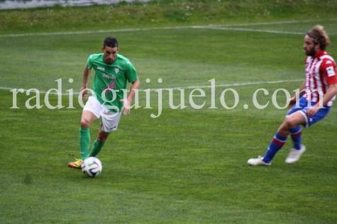 Antonio Moreno en un encuentro ante el Sporting B.