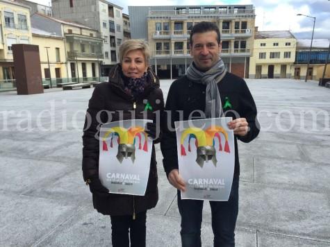 Marián Picado, concejal de Cultura y Manuel Berrocal concejal de Festejos en la presentación de la agenda especial de febrero.