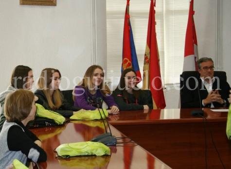 Alumnas rusas en Guijuelo.