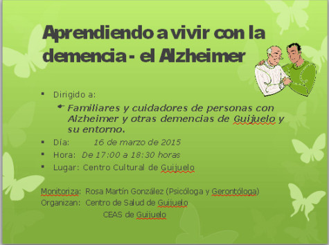 Charla de Alzheimer en Guijuelo