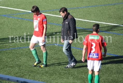 Fernando Estévez en el partido del pasado domingo