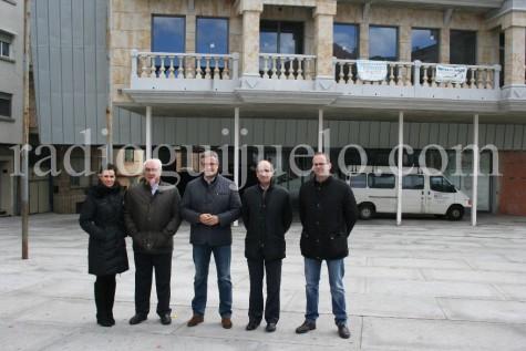 Visita del presidente de la Diputación de Salamanca a Guijuelo.