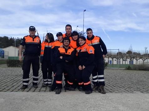 Voluntarios Protección Civil. Foto Rafael Martínez.