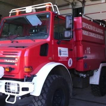 Camión de Bomberos. Foto Facebook Bomberos de Guijuelo
