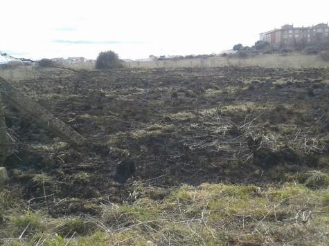 Incendio en Guijuelo. Foto Facebook Bomberos