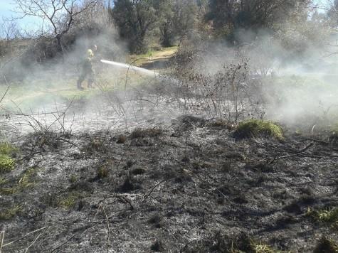 Incendio en la Comarca. Foto Bomberos Guijuelo.