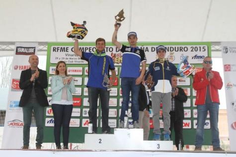 Santolino en el podium. Foto Lorenzo Santolino.