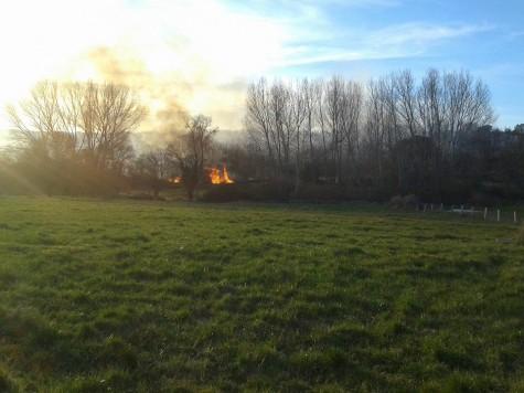 Incendio en la Comarca