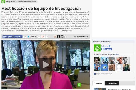 Página web de La Sexta.