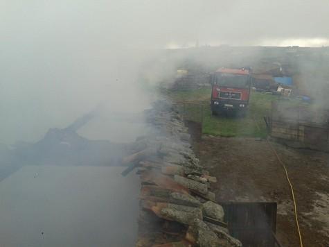 Incendio en Cespedosa. Foto Bomberos de