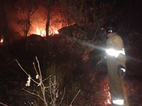 Incendio en Los Santos. Foto Bomberos de Guijuelo.