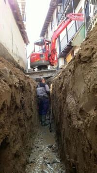 Obras en al calle Abajo. Foto Ayto. San Esteban