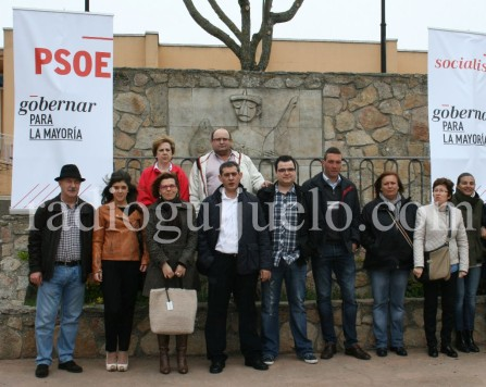 Candidatos del PSOE en Guijuelo.