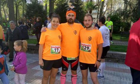 Integrantes del club atletismo de Guijuelo en Béjar.