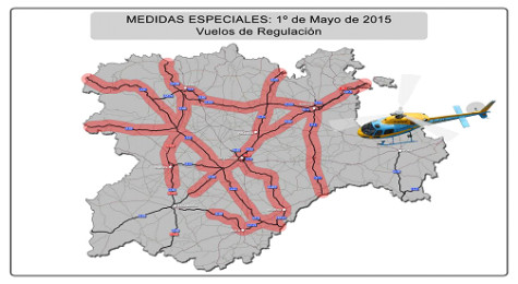 Mapa Medidas especiales 1º de mayo.