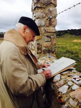 El artista Venancio Blanco. Foto Diputación de Salamanca.