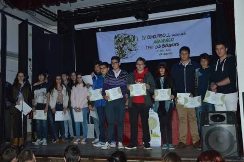 Participantes y ganadores del concurso de ortografía Abadengo IES Las Batuecas. Foto Salamanca24horas