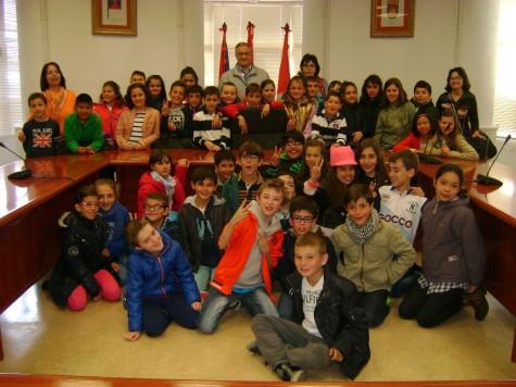 Alumnos del Filiberto Villalobos en el Ayuntamiento de Guijuelo