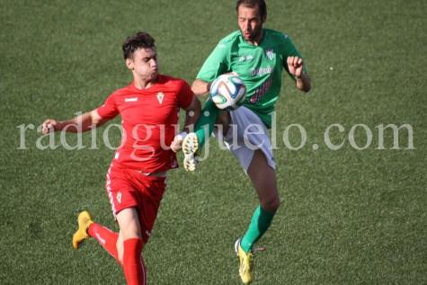 Óscar Valero autor del segundo gol ante el Real Murcia.