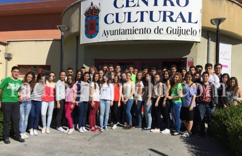 Alumnos de Segundo de Bachillerato del IES Vía de la Plata.