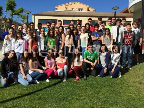 Alumnos de Segundo de Bachillerato que se graduarán.