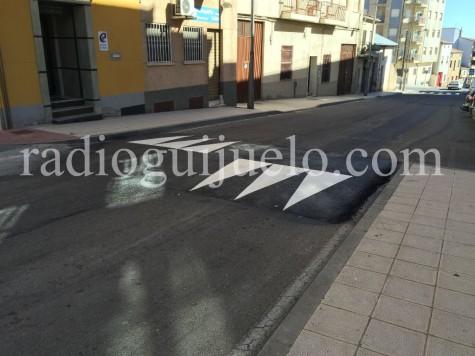 Calle Chinarral en Guijuelo.