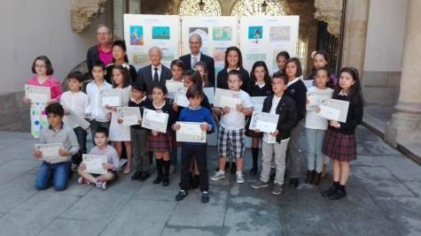 Premiados del concurso Venancio Blanco. Foto Diputación de Salamanca.