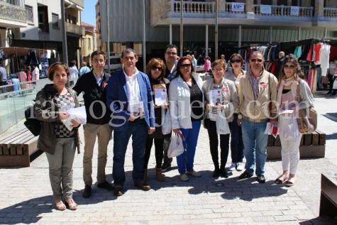 Miembros del PSOE de Guijuelo en la presentación de su programa electoral.
