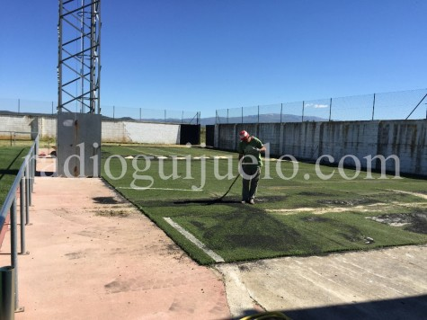 Mini campo de fútbol.