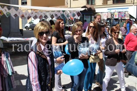 Un acto del PP el pasado sábado en la plaza Mayor.