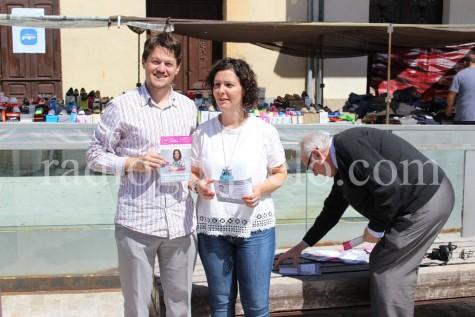 UpyD en un acto electoral el pasado sábado en Guijuelo.