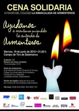 Cartel Cena Solidaria Armenteros