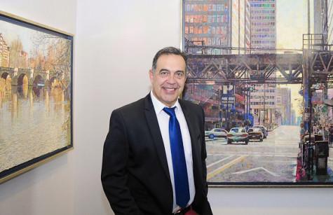 El pintor guijuelense José Antonio Muñoz. Foto Salamancartv
