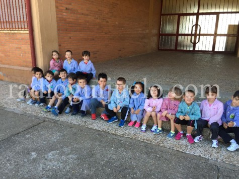 Escolares del colegio Miguel de Cervantes.