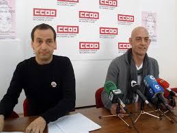 José Fernando Luengo y Emilio Pérez, representantes de CCOO. Foto noticiascastillayleon.com.