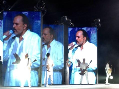 Miguel Bosé en un concierto. Foto Miguel Bosé.