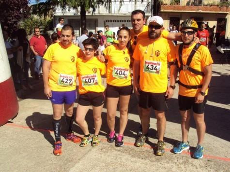 Integrantes del club atletismo Guijuelo en Cristobal. Foto club atletismo Guijuelo.