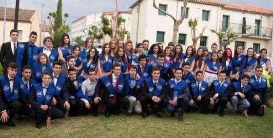 Graduaciones de los alumnos de Segundo Bachillerato del IES Vía de la Plata. Foto Mar González.