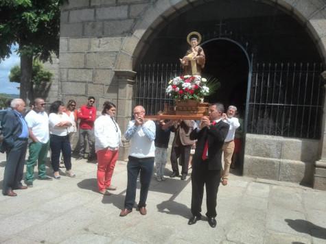 Santo Antonio en Ledrada.  Foto Ayto. Ledrada.