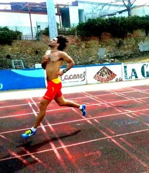 El velocista guijuelense David Alejandro. Foto D.A.