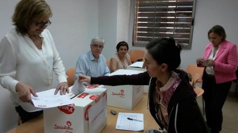 Votación de diputados del PSOE. Foto PSOE Salamanca.