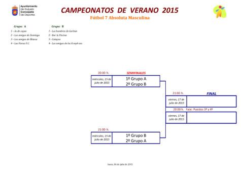 Campeonatos de verano fútbol 7